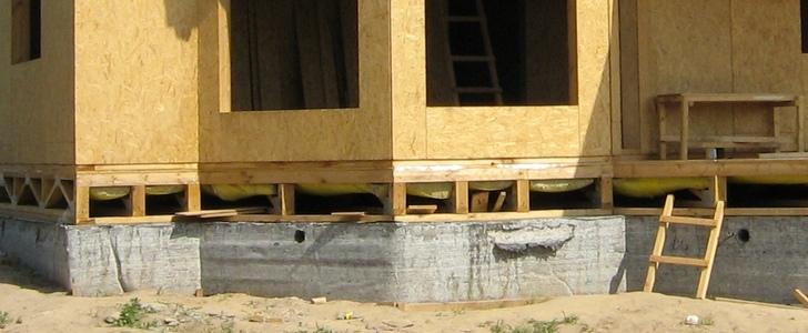 Фундамент под каркасный дом своими руками фото