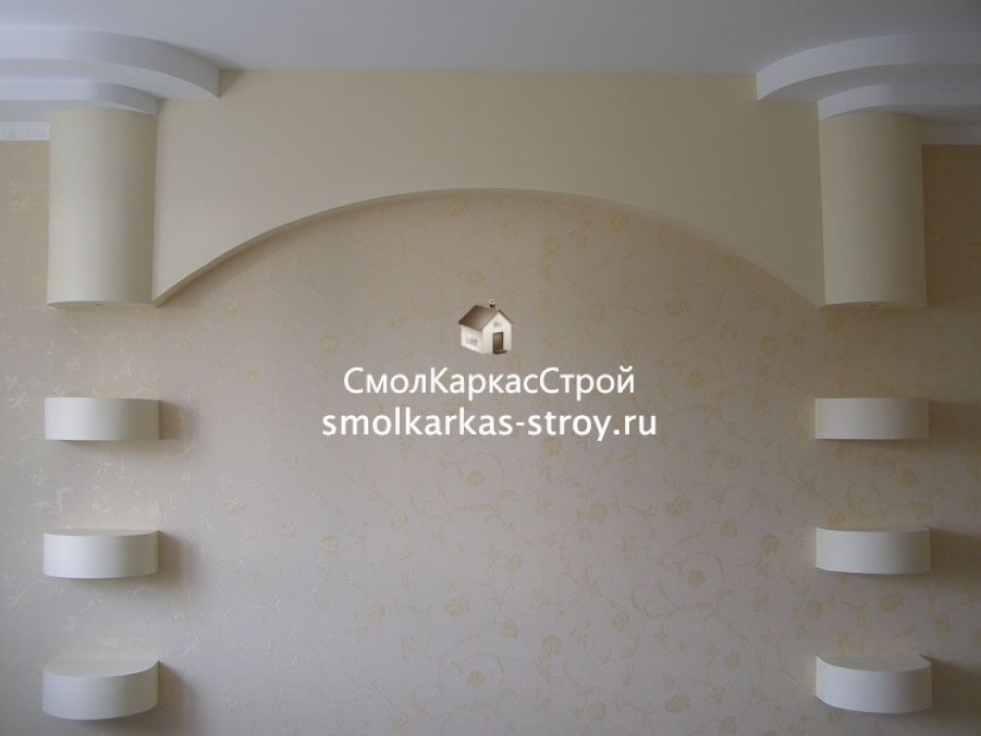Дизайн отделка гипсокартоном фото