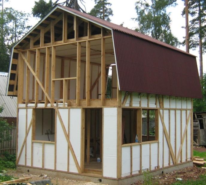 Каркасно деревянный дом своими руками